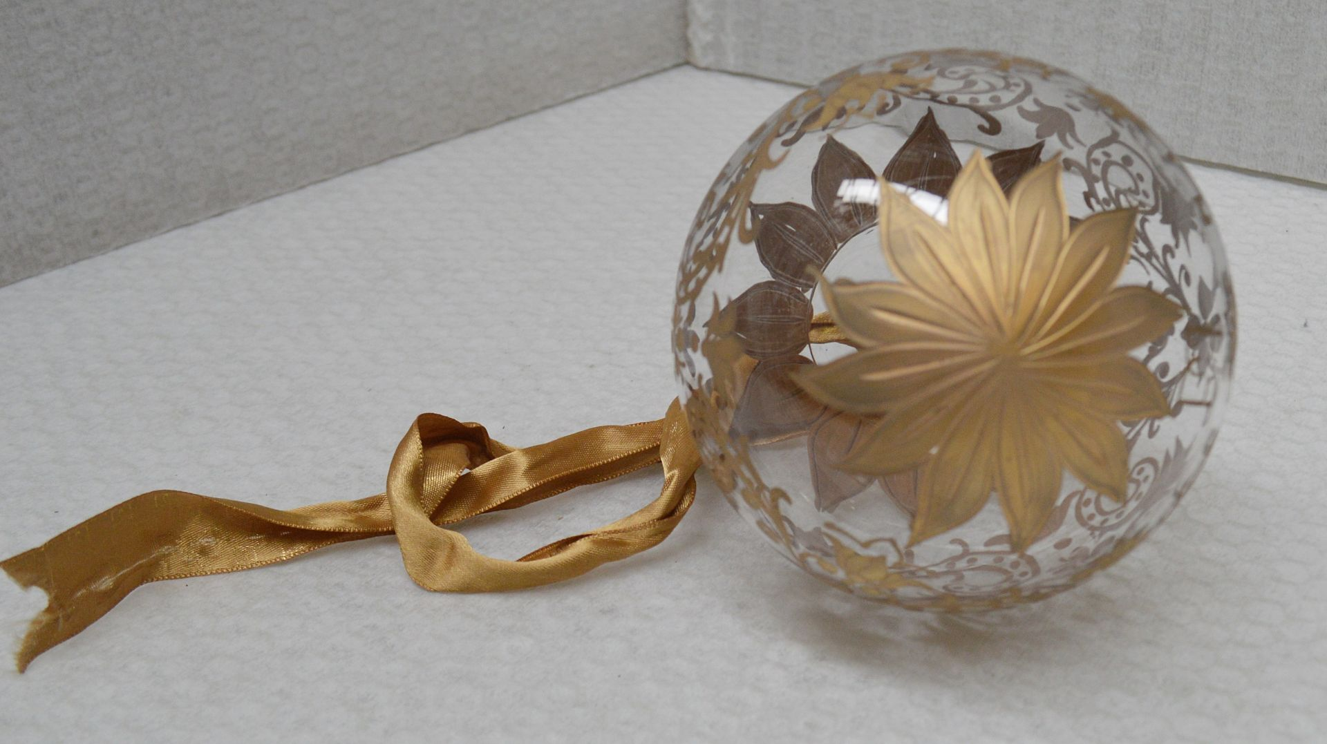 1 x BALDI 'Home Jewels' Italian Hand-crafted Artisan Christmas Tree Decoration In Gold - RRP £124.00 - Image 2 of 4