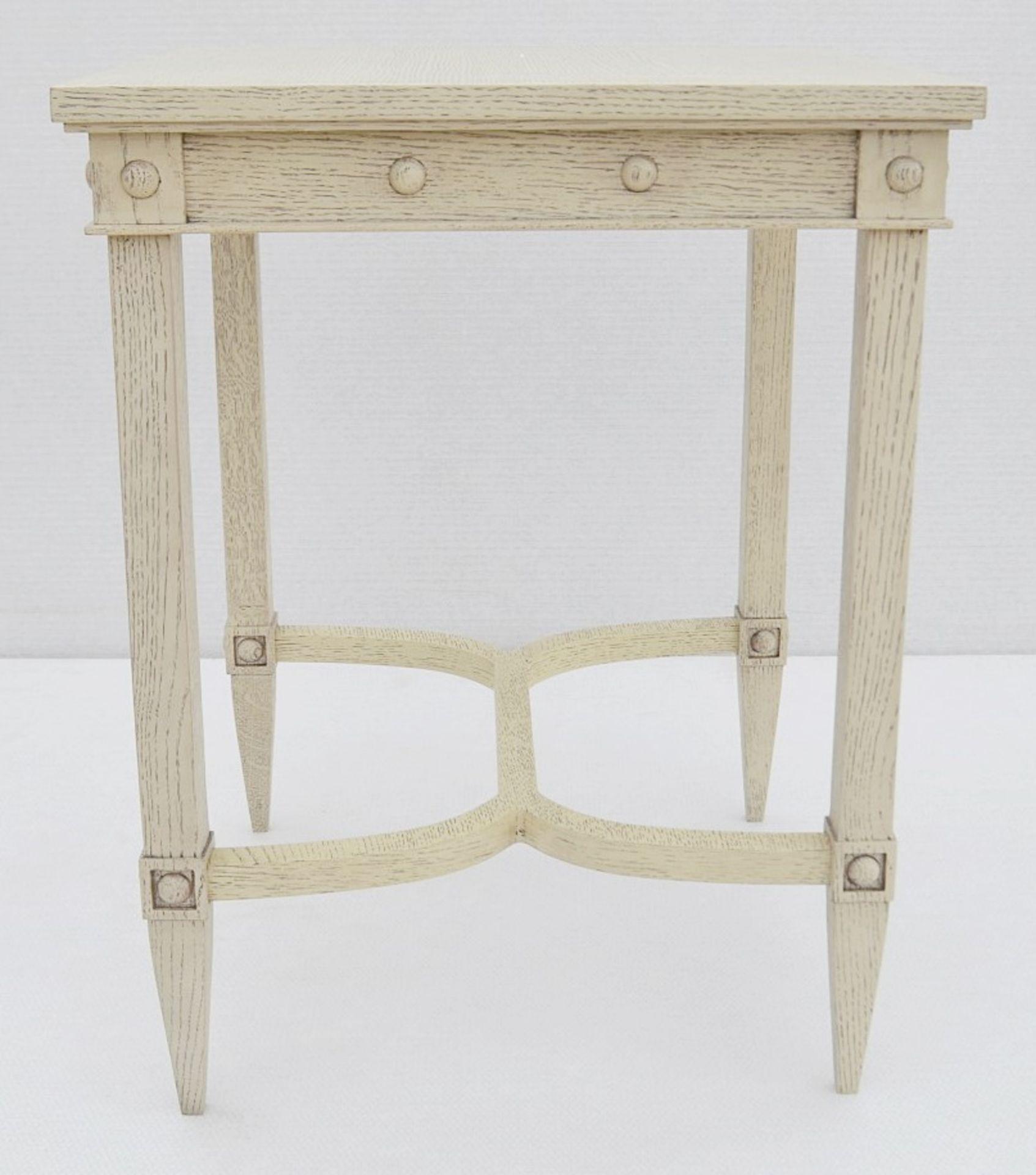 1 x JUSTIN VAN BREDA 'Thomas' Designer Georgian-inspired Table In Limed Grey Oak - RRP £1,320 - Image 2 of 6