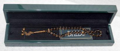 1 x BALDI 'Home Jewels' Italian Hand-crafted Artisan MISBAHA Prayer Beads In Fume Rock Crystal And
