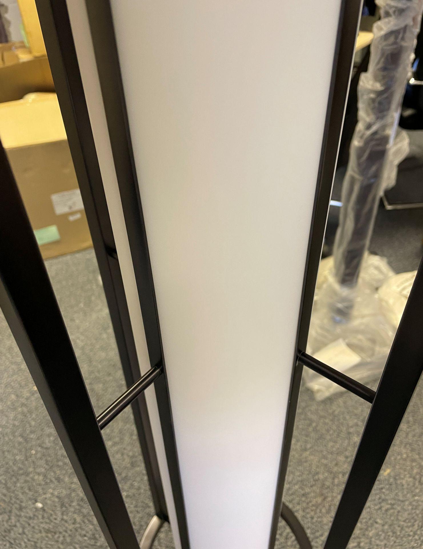 1 x Chelsom Art Deco Style Floor Lamp in Black/Bronze Height 161cm x 30cm Diameter - Ref: CHL197 - - Image 8 of 10