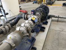 530 gpm, 1200 psi Fedco high pressure feed pump, Duplex 2205 stainless multistage pump. Mdl. MSD-160