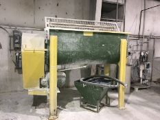 35 Cu. Ft Ribbon Blender with discharge tote.