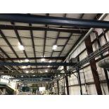 1000 lb. Gorbel Hoist with Bridge and Overhead Rail