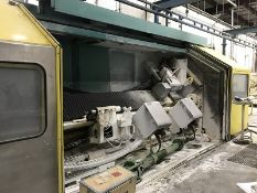 CMS CNC lathe with disc grinder surface grinding fused silica tempering roll