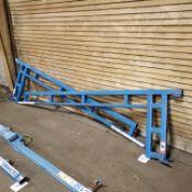 (2) Gorbel 150 lb. 10' Jib Crane Arms (No Column), Loading Fee $10