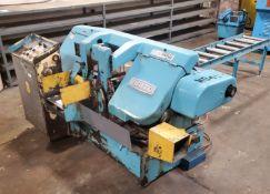 "Daito Model GA260W Horizontal Bandsaw, s/n 57KY803B5, 6' x 16"" Roller Conveyer Infeed, Loading"