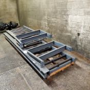 """(2) Sections Roller Conveyor 30"""" Wide (1) 82"""" Long ; (1) 120"""" Long, Loading Fee $25"""