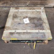 "Southworth 1,500 lb. Pneumatic Lift Table, 36"" Square, Loading Fee $10"