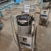 "Dengensha Vibratory Parts Feeder Model AF-VNS-S6-DLH w/ 12"" Vibratory Feeder Bowl Type DG-VB1, 110"