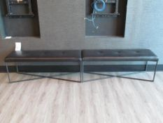 "(2) 16.5"" x 50.5"" Room & Board, Sidney Leather Benches/Ottomans"