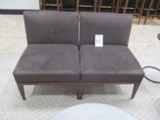 (2) Aceray Lounge Chairs, Brown Cloth