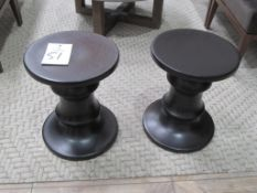"(2) 14.5"" ISA International Wood End/Accent Tables"