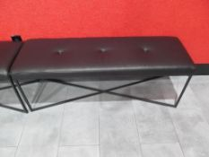"(3) 16.5"" x 50.5"" Room & Board, Sidney Leather Benches/Ottomans"