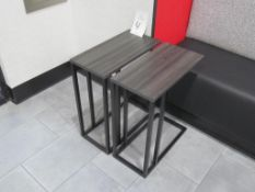 "(2) 10"" x 20"" x 24"" High End Tables"