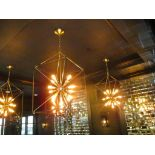 "(2) 20"" x 20"" x 36"" High Pendant Lights"