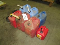 (7) Assorted Gas & Water Cans (Building C)