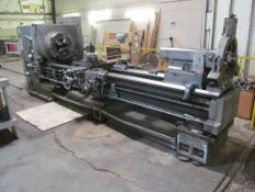 "Mazak 30"" x 118"" Oil Field Lathe, S/N NA (New 1976), 12.5"" Spindle Hole, 5 to 300-RPM, with 24"" 4-Ja"