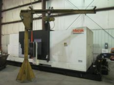 "1/2 Ton Floor Standing Jib Crane, 11' Boom, 9' 5"" Under Boom, Budgit Electric (Hoist Building C)"