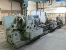 "Yuasa FX-4200A 30"" x 200"" Engine Lathe, S/N 2591 (New 1981), 14"" Spindle Hole, 10 to 350-RPM, with 2"