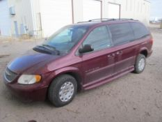 Chrysler Town & Country LX Full Mobility Kneeling Mini Van, VIN: 2C4GD44311R390145 (New 2001), with