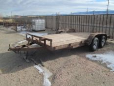"16' Tandem Axle Flat Bed Trailer, 78"" Between Fenders, No Title"
