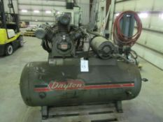 10 H.P. Dayton 3Z968 2-Stage Air Compressor (Building C)