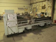 "Ponar Wroclaw 24"" x 124"" Engine Lathe, S/N 0781-42238, 3.5"" Spindle Hole, 18 to 1800-RPM, IN/MM Thre"
