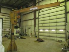 "1/2 Ton Floor Standing Jib Crane, 11' Boom, 9' 5"" Under Boom, Harrington Electric (Hoist Building C)"