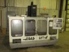"Haas VF-4 CNC Vertical Machining Center, S/N 2549 (New 1993), 18"" x 52"" Table, Travels: X-50""; Y-20"""