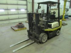 "Toyota FDG25 5,000-Lb Forklift, S/N 11554, 79"" Lift Height, 42"" Forks"
