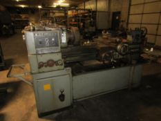 """Sheldon 15 15"""" x 40"""" Engine Lathe; 1-1/4"""" Hole Through Spindle, 22 to 1250-RPM, with 10"""" 4-Jaw Chuck"""