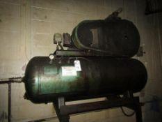 Quincy 230 5-HP Air Compressor; 80-Gallon Horizontal Tank, 3PH, 22,560 Running Hours