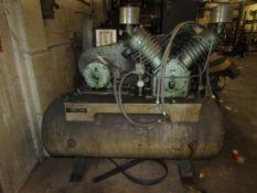 Kellogg-American DB462A 15-HP Air Compressor; S/N 935807; 120-Gallon Horizontal Tank, 230/460V, 3PH