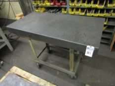 """DoAll Granite Surface Plate; 24""""W x 48""""L x 4""""T, B Grade, with Steel Base on Casters"""
