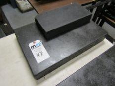 "Granite Surface Plates; (1) 18""L x 12""W x 3""T and (1) 12""L x 6""W x 2""T"