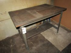 """Wood Top Shop Table; Steel Frame, 48""""L x 30""""W x 31""""H"""