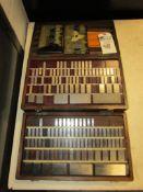 Webber Gage Block Sets; (Incomplete), with (2) Craftsman Radius Gage Sets
