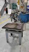 """Walker Turner Variable Speed Radial Arm Drill Press, 26"""" x 18"""" T-Slot Table, 230 volt, 3 Phase"""