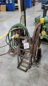 2 Wheeled Torch Cart with Wand, Regulators, and Hose