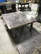 """Steel Weld Table 54"""" x 44"""" x 2-1/2"""" Thick"""