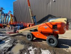 JLG 600S Rough Terrain Boom Lift (S/N 300063683, Year 2001), with 60' Platform Height, 49.47'
