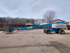 "Genie S-85 Rough Terrain Boom Lift (S/N S8008-6614, Year 2008), with 85' Platform Height, 77'6"""
