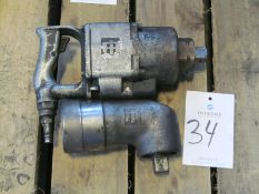 """Ingersoll Rand #2934B9, 1"""" Impact Wrench w/ Right Angle Head"""