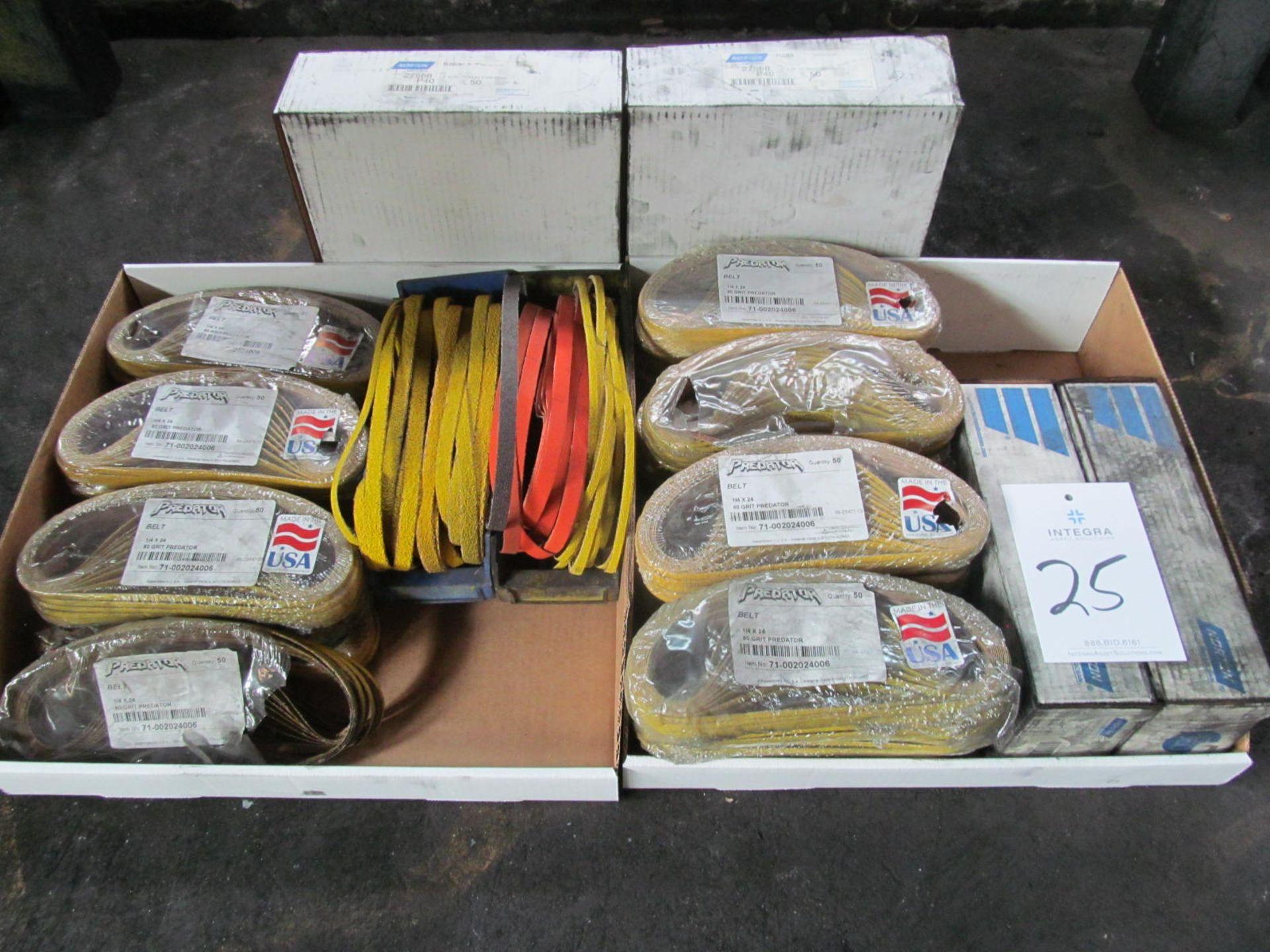 Lot of Assorted Sanding Belts