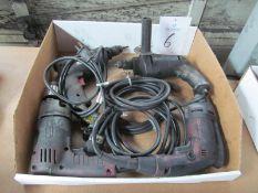 "(4) 3/8"" Electric Drills"