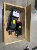 Lot of (2) Fanuc Alpha 8 and Alpha22/1500 Servo Drive Motors for KV45