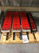 Lot of (4) 7-Station CAT 40 Tool Racks