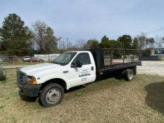 Ford F450XL-SD Flatbed Truck, 1999