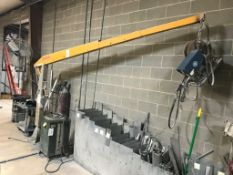 Bernard 2475 Tela-Boom Welding Boom with Miller 10E Wire Feeder