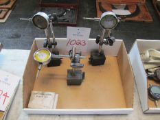 (3) Assorted MHC Dial Inticators with Magnetic Base